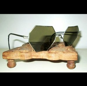 Antique WILLSON Smoky Octagon Sunglasses Spectacle